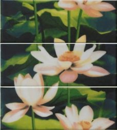 Декор Imola Nuvole Lotus 3 Белый 12х33