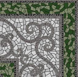 Плитка для пола Golden Tile Византия зеленый 774730 300х300