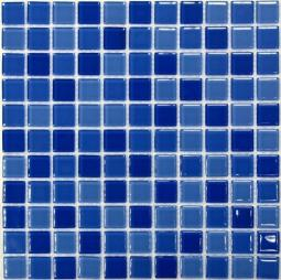 Мозаика Bonаparte Blue wave-1 синий глянцевая 30x30