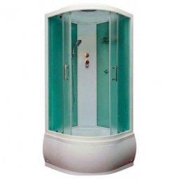 Душевая кабина BAS Корса Эко 900х900х2250 мм белая  стекло грейп