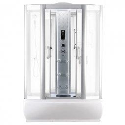 Душевая кабина Faro 420 145x85 белая с разборным экраном