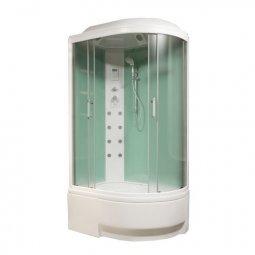 Душевая кабина BAS Фиджи 1200х800х2250 мм белая левосторонняя стекло грейп