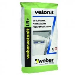 Шпатлевка Weber.Vetonit LR+ финишная для сухих помещений 5 кг
