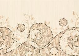 Декор Береза-керамика Глория барокко бежевый 25x35