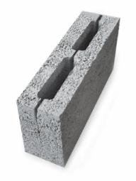 Керамзитоблок перегородочный пустотелый 390x120x188 мм М-35