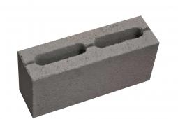 Блок перегородочный 390х90х188 с 2-мя квадратными отверстиями М-75