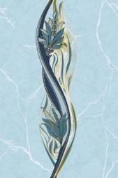 Вставка Golden Tile Александрия голубой В13361 200х300