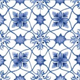 Плитка для стен Сокол Катарина KR1 орнамент полуматовая 22х22