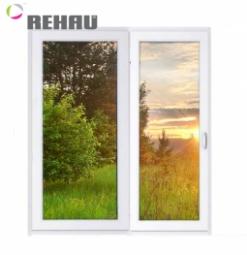 Окно раздвижное Rehau 2100x2000 двухстворчатое ПР800/ЛГ1200 1 стекло