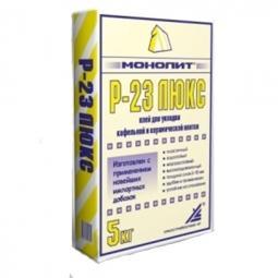 Клей Монолит Р-23 ЛЮКС для кафельной и керамической плитки 5 кг