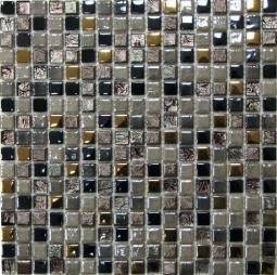 Мозаика Bonаparte Space серая глянцевая 30x30