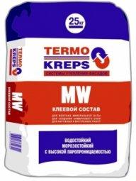 Штукатурная клеевая смесь Крепс MW для минераловатных плит 25 кг