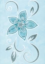 Декор ВКЗ Римини «Цветы-2»  25x35