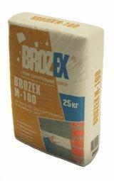 Штукатурка Brozex М100 цементно-песчаная для внутренних и наружных работ 25 кг