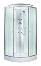 Кабина душевая Aquapulse 4122B 900х900х2200 мм Fabric white