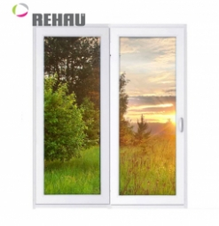 Окно раздвижное Rehau 2100x2000 двухстворчатое ПР1000/ЛГ1000 1 стеклопакет