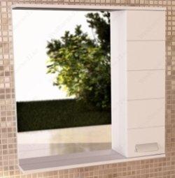 Шкаф-зеркало Comforty Модена 75 Белый С Подсветкой