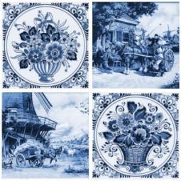 Декор Нефрит-керамика Акварель 04-03-1-14-03-61-136-3 20x20 Синий