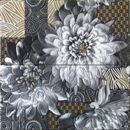 Панно Ceramica Latina Arual Сonjunto negro 2pz 50x50