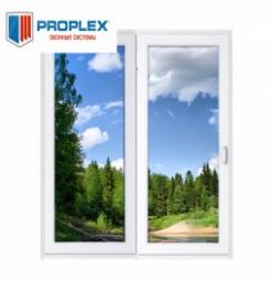 Окно раздвижное PROPLEX 2100x2000 двухстворчатое ПР1000/ЛГ1000 2 стеклопакет