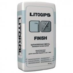 Шпатлевка Litokol Litogips Finish гипсовая для внутренних работ 15 кг