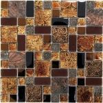 Мозаика Bonаparte Liberty -2 коричневая глянцевая 30x30