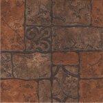 Керамогранит Керамин Бастион 4 коричневый 40х40 глазурованный