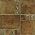 Плитка для пола Береза-керамика Рамзес терракотовая 42х42