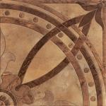 Керамогранит Lasselsberger Цезаре глазурованный коричневый 45x45