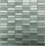 Мозаика Bonаparte Silver Light серая глянцевая 30x30.5