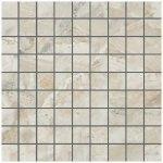 Мозаика Kerranova Premium marble полированный бежево-серый 30x30