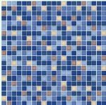 Плитка для пола Пиастрелла Меланж ПН люкс синяя 40х40