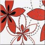 Декор Opoczno Aplauz flower czerw 1 многоцветный 10х10
