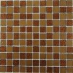 Мозаика Bonаparte Shine Brown оранжевая глянцевая 30x30