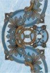 Панно Керамин Александрия 2 голубое 27.5х40