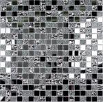 Мозаика Bonаparte Mirror серая глянцевая 30x30