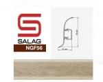 Плинтус Salag NGF098 Дуб Бургунд 56