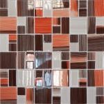 Мозаика Elada Crystal JSM-CH1021 терракотовая полосатая mix size 32.7x32.7