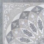 Декор Kerama Marazzi Монтаньоне 1/4 розона HGD\B37\TU0031L 42х42 серый лаппатированный