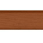 Плинтус с кабель-каналом и мягким краем Т-Пласт 074 Вишня Темная 58мм 2.5 м