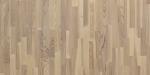 Паркетная доска Polarwood Classic Ясень Ливинг белая матовая 3-х полосная