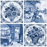 Декор Нефрит-керамика Акварель 04-03-1-14-03-61-136-4 20x20 Синий
