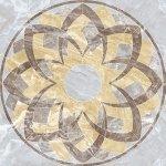 Панно Kerranova Premium marble полированный светло-серый 120x120